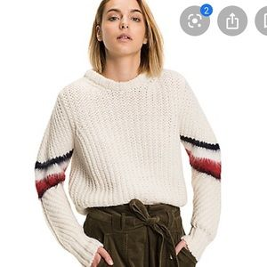 Tommy Hilfiger Cropped Mohair Stripe Sweater